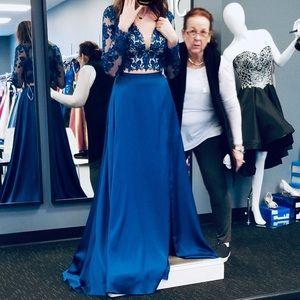 A nice blue dress used once.